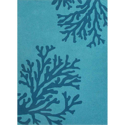 Grant Bough Out Peacock Blue/Mosaic Blue Area Rug