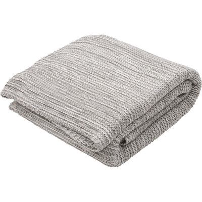 Gem Neutral Gray/Lily White Throw