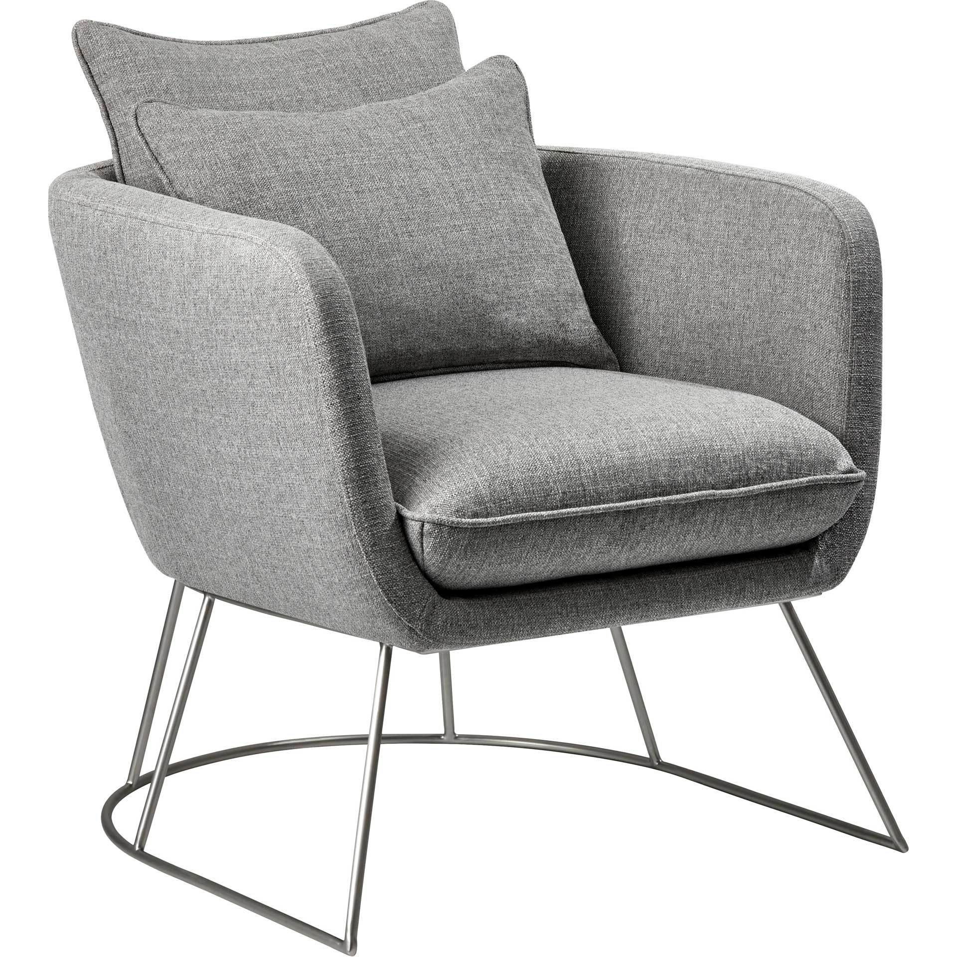 Steven Fabric Chair Light Gray
