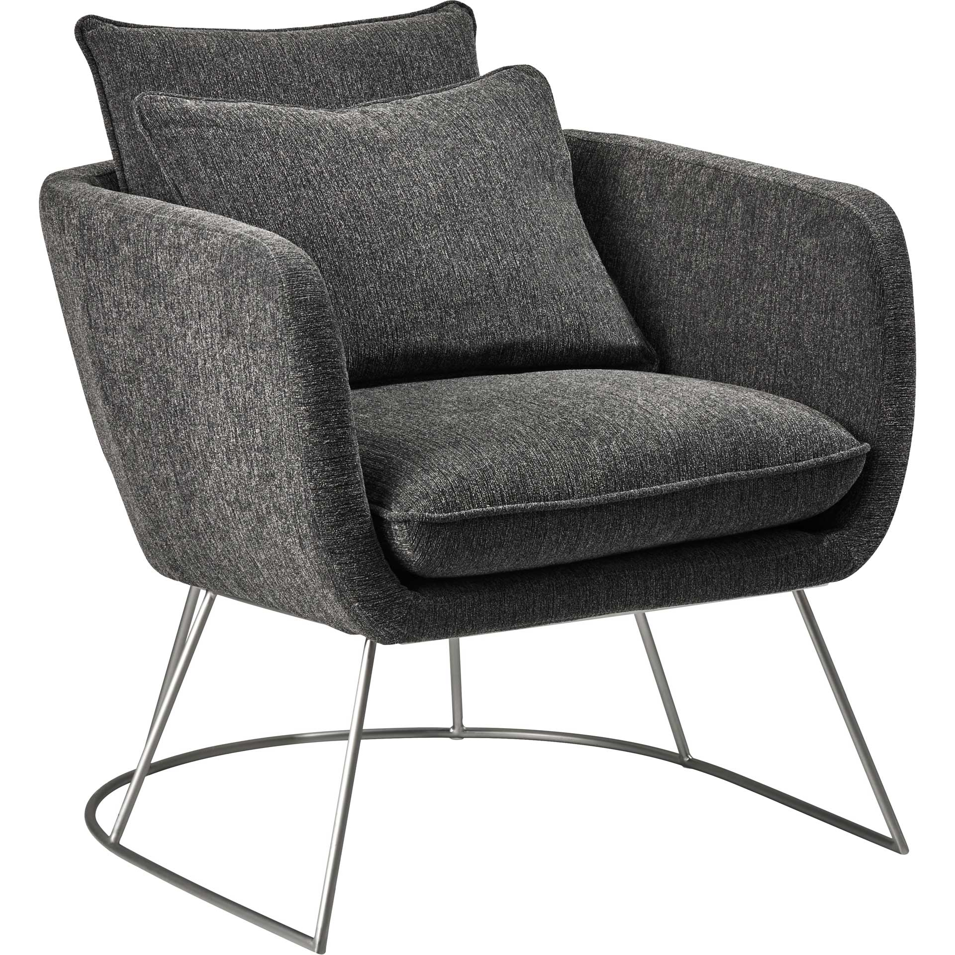 Steven Fabric Chair Dark Gray