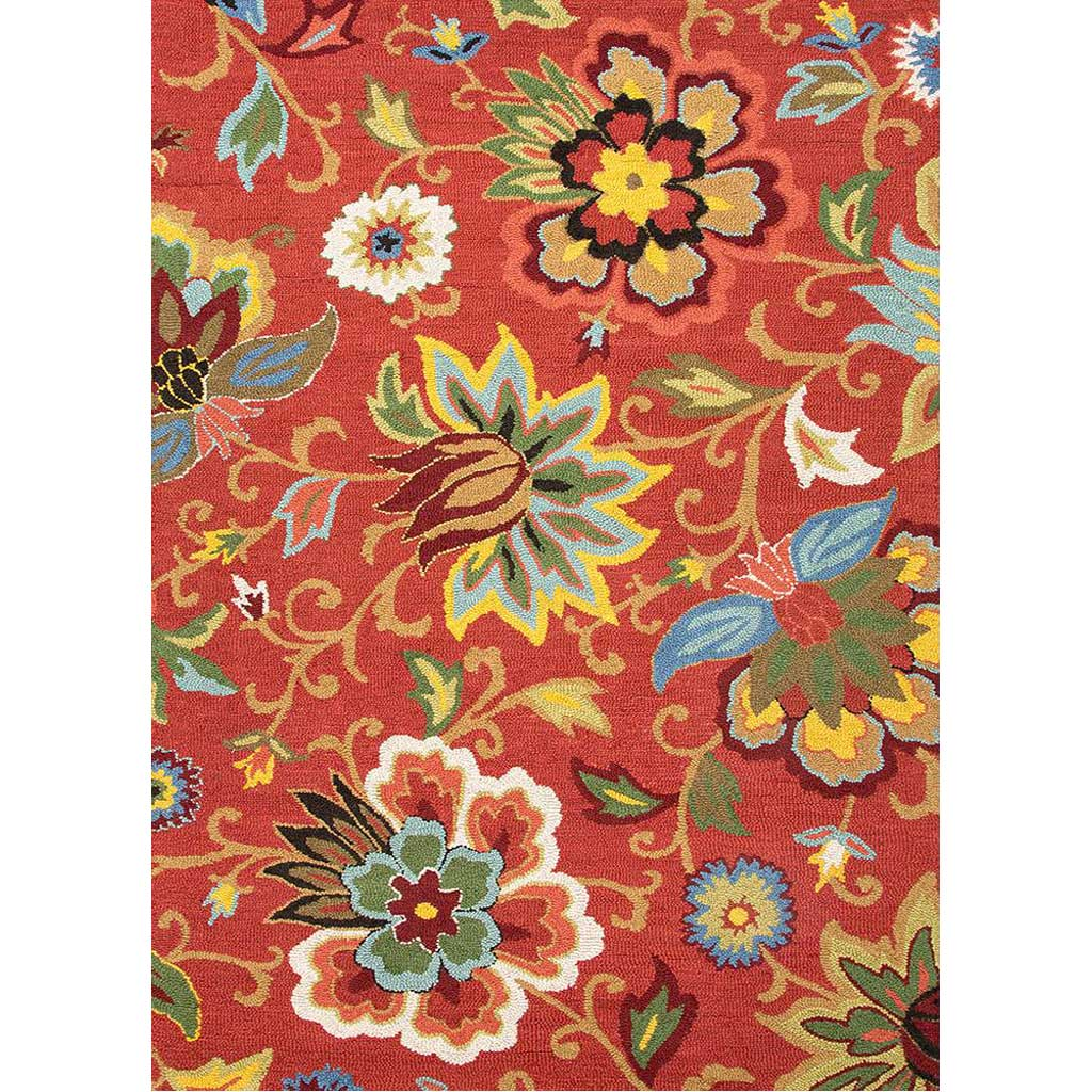 Hacienda Zamora Velvet Red Area Rug