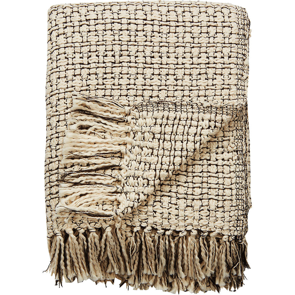 Hamlin Ham-05 Whisper White/Raven Throw
