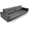 Stockholm Arm Sofa Steel Black Leather