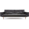 Stockholm Arm Sofa Black Leather