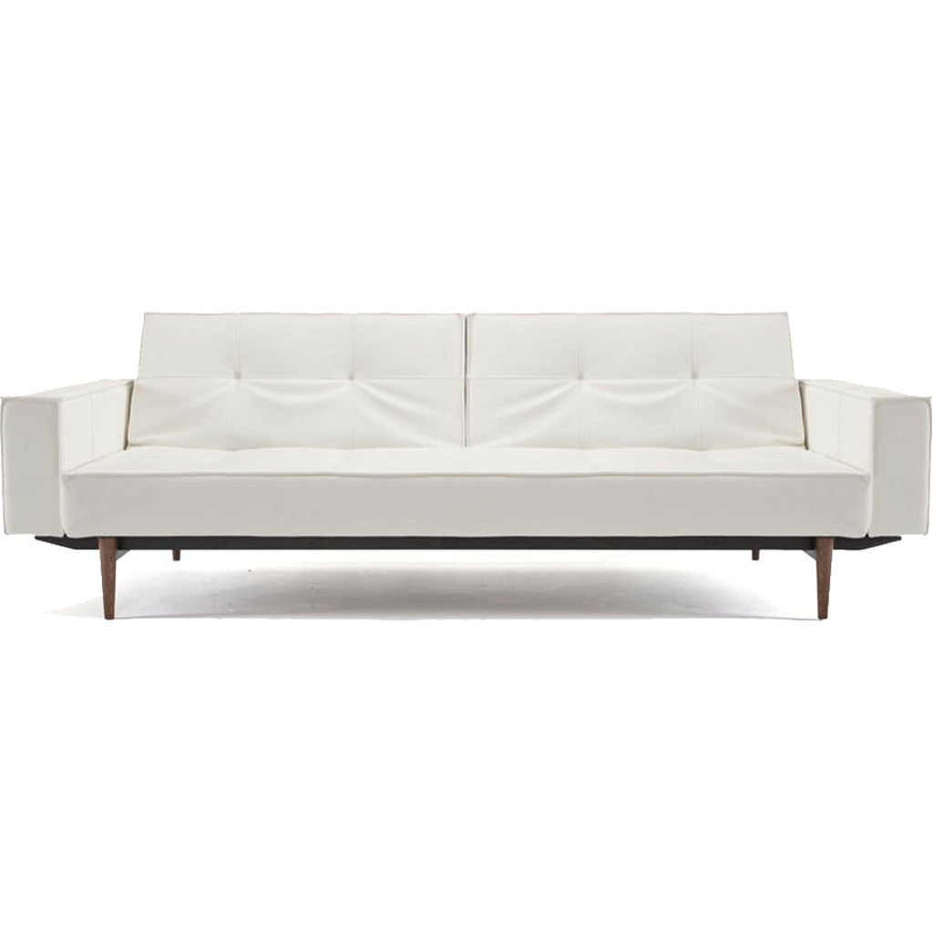 Stockholm Arm Sofa White Leather
