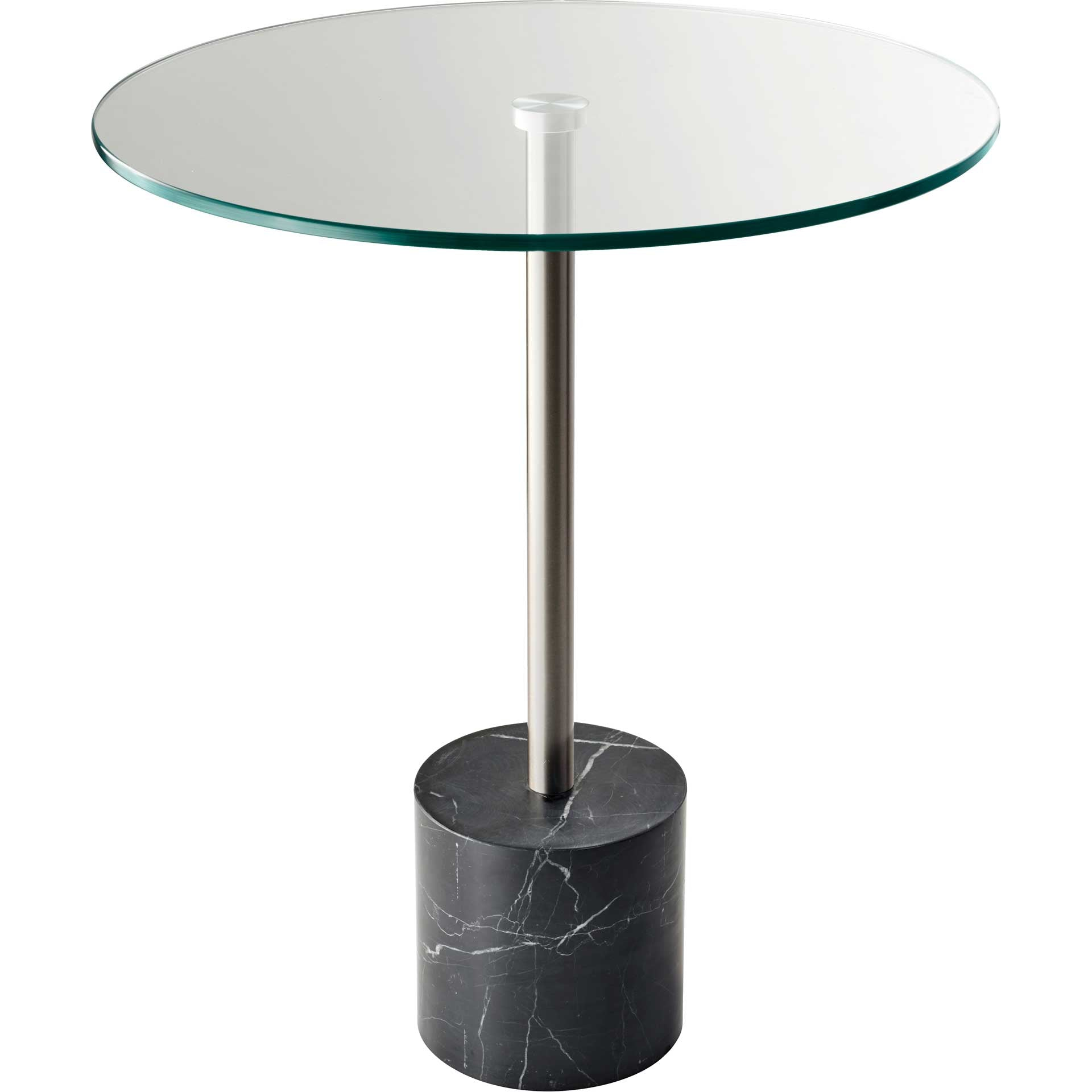 Blane End Table Brushed Steel/Black