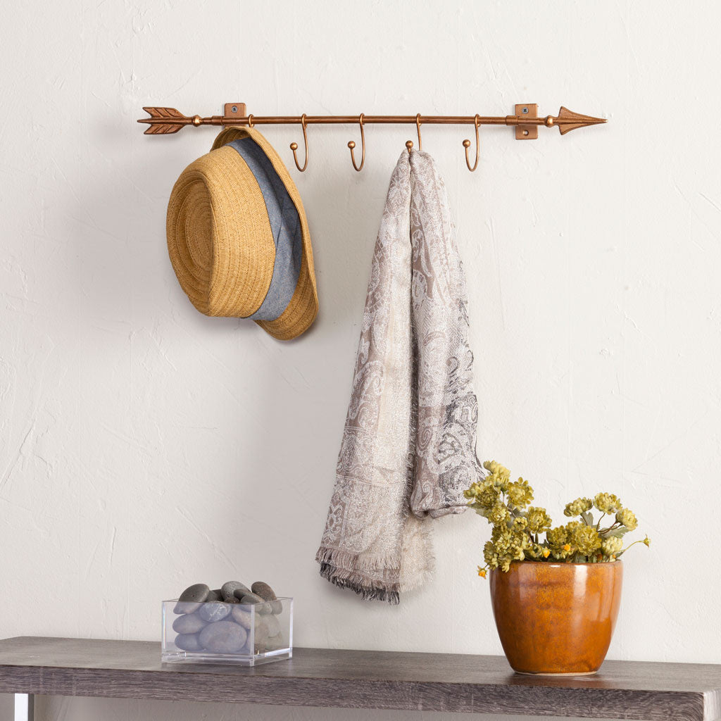 Wall Mount Arrow w/ Hooks