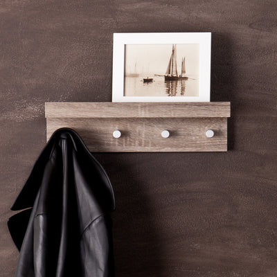Ace Hanger Wall Shelf Dark Oak