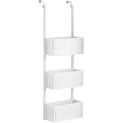 Over-The-Door 3-Tier Basket Storage White