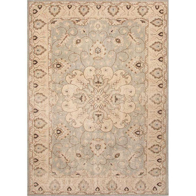 Inspired Antique Sky Gray/Silver Green Area Rug