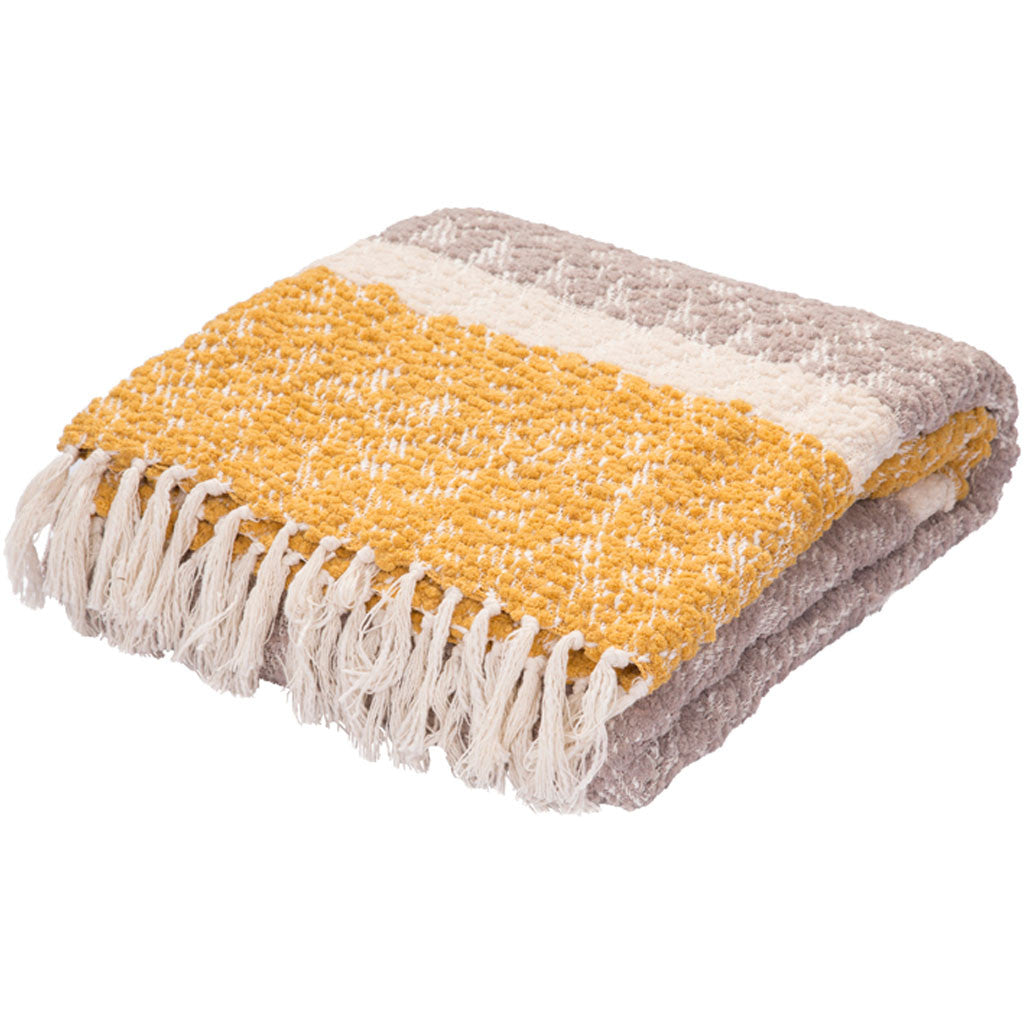 Kinley Kin-01 Gray/Yellow Throw