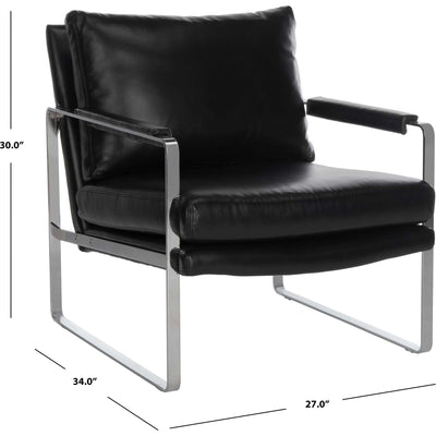 Estrella Metal Accent Chair Black/Silver