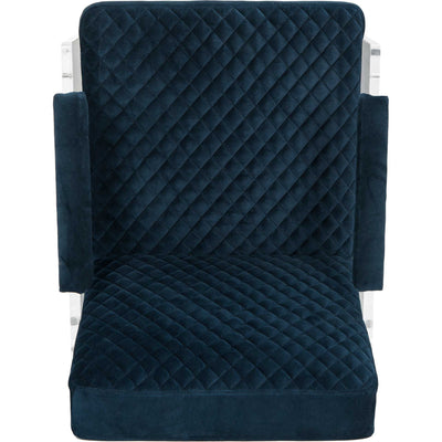 Maggie Acrylic Arm Chair Navy Blue