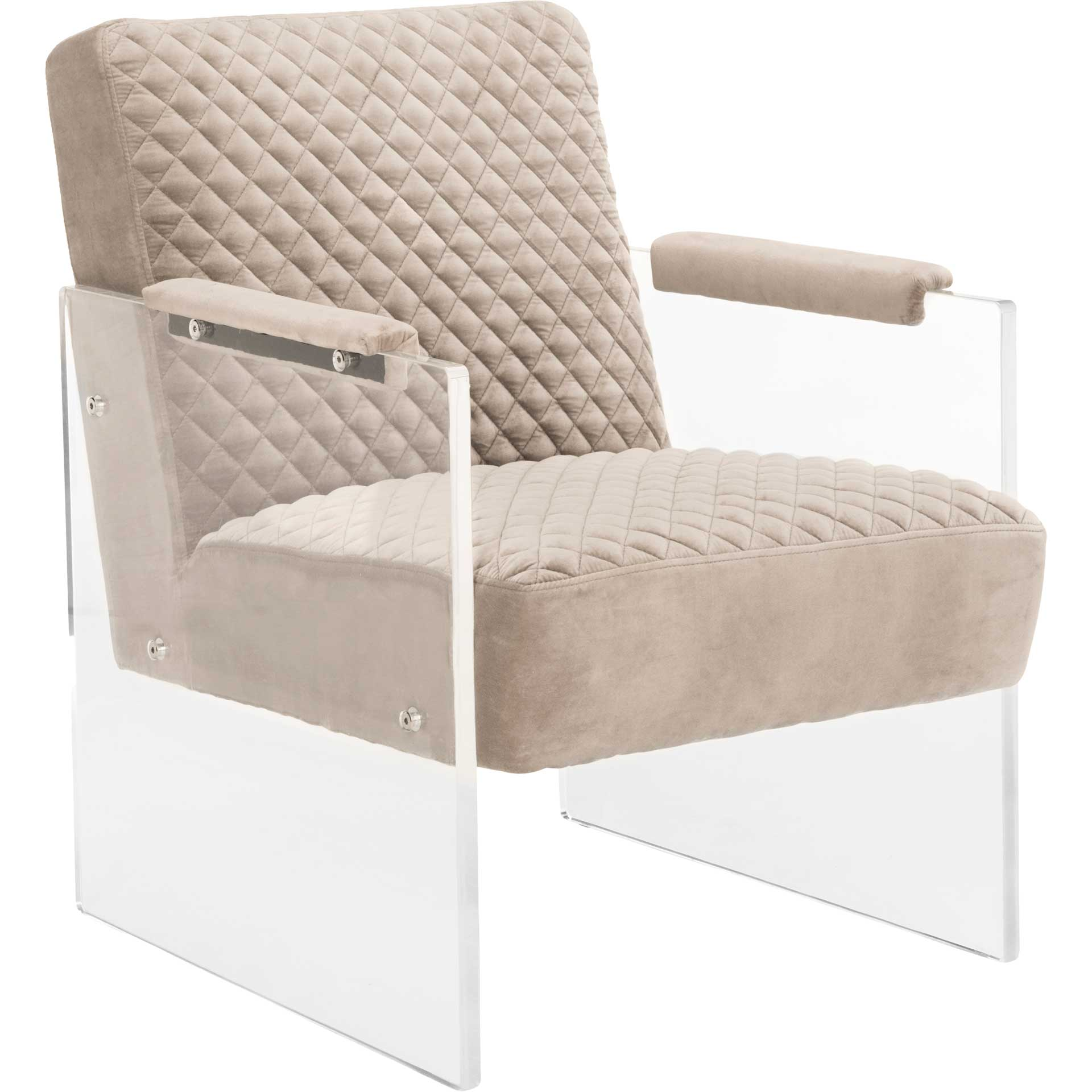 Maggie Acrylic Arm Chair Taupe