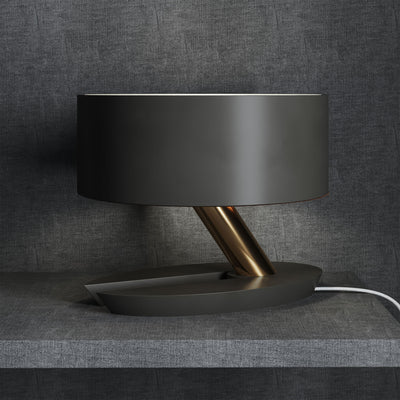 Albion Table Lamp Graphite/Brass