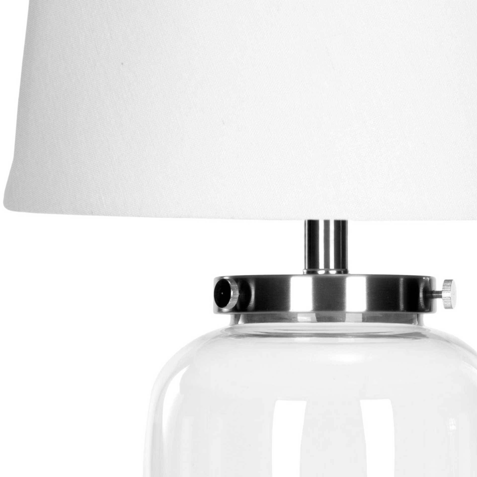Everly Fillable Glass Clear Table Lamp