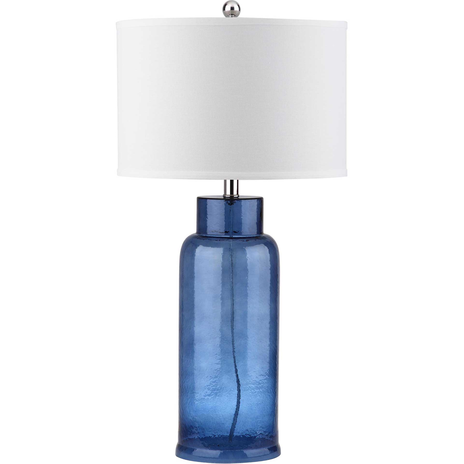 Bottle Glass Table Lamp Blue (Set of 2)
