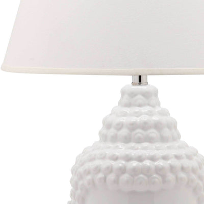 Sean Buddha Table Lamp White (Set of 2)