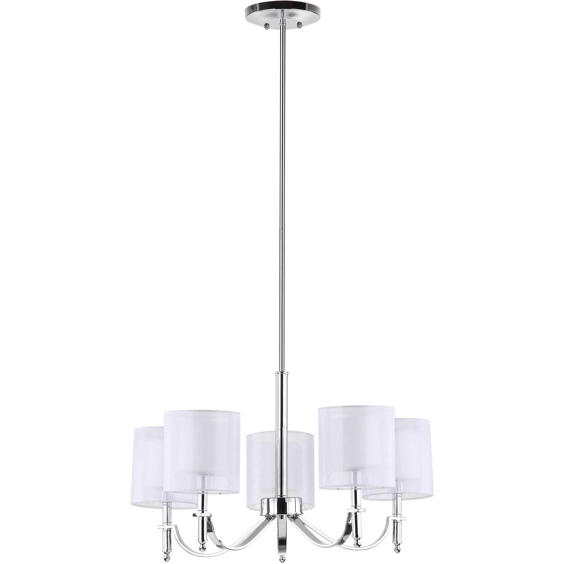 Milena Chrome Adjustable Chandelier