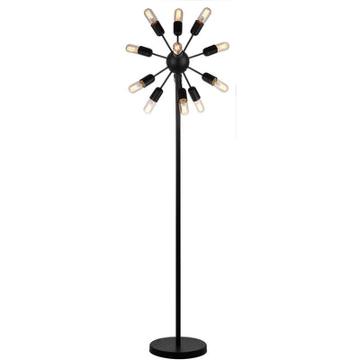 Uriah Retro Floor Lamp Black