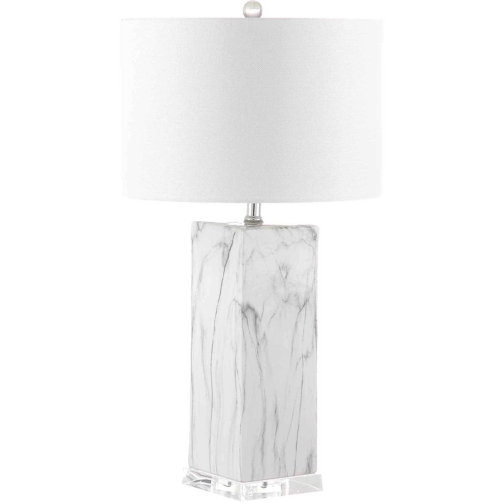 Oliver Table Lamp Black/White Marble (Set of 2)