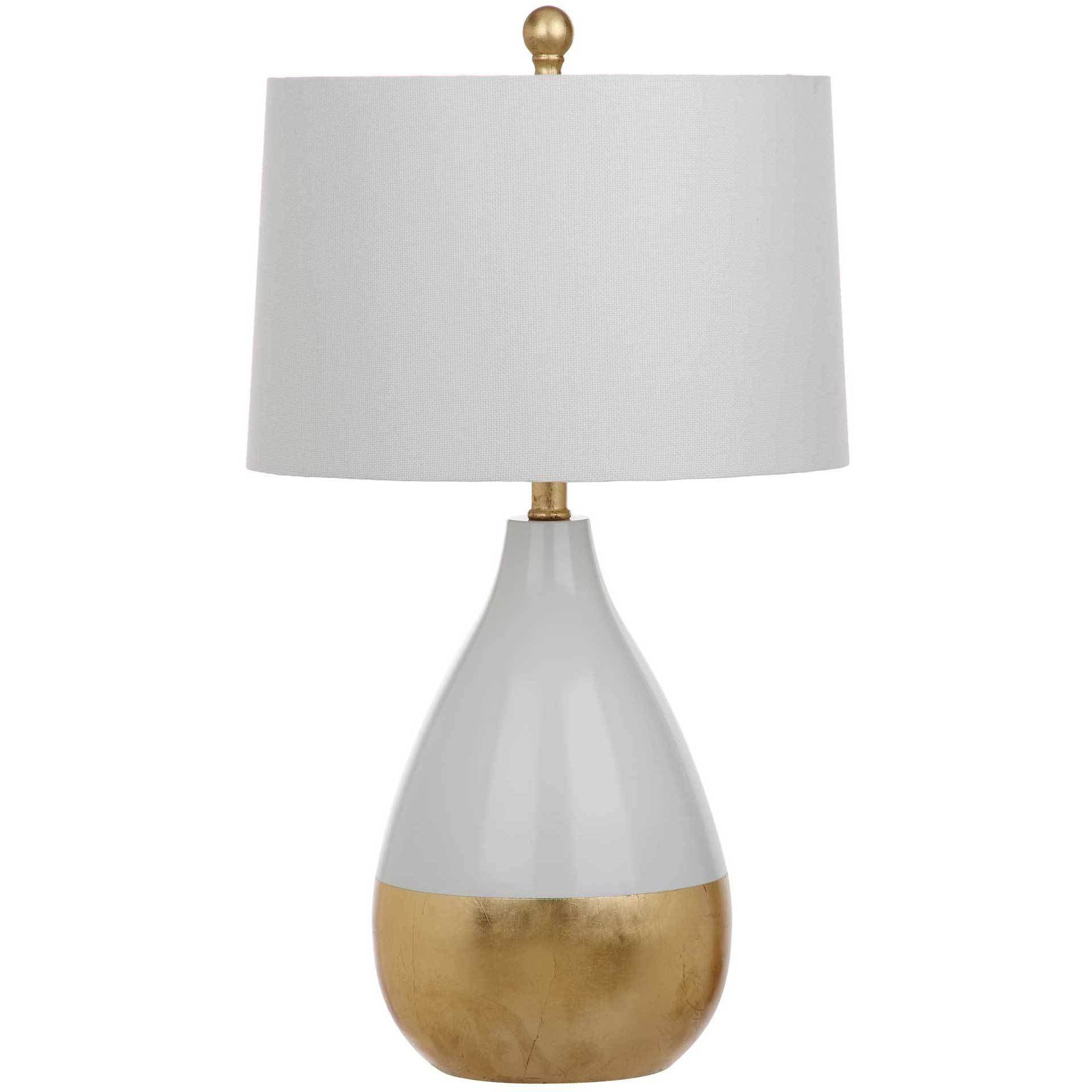 Kiara Table Lamp White/Gold (Set of 2)
