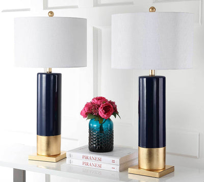 Dominic Table Lamp Navy/Gold (Set of 2)