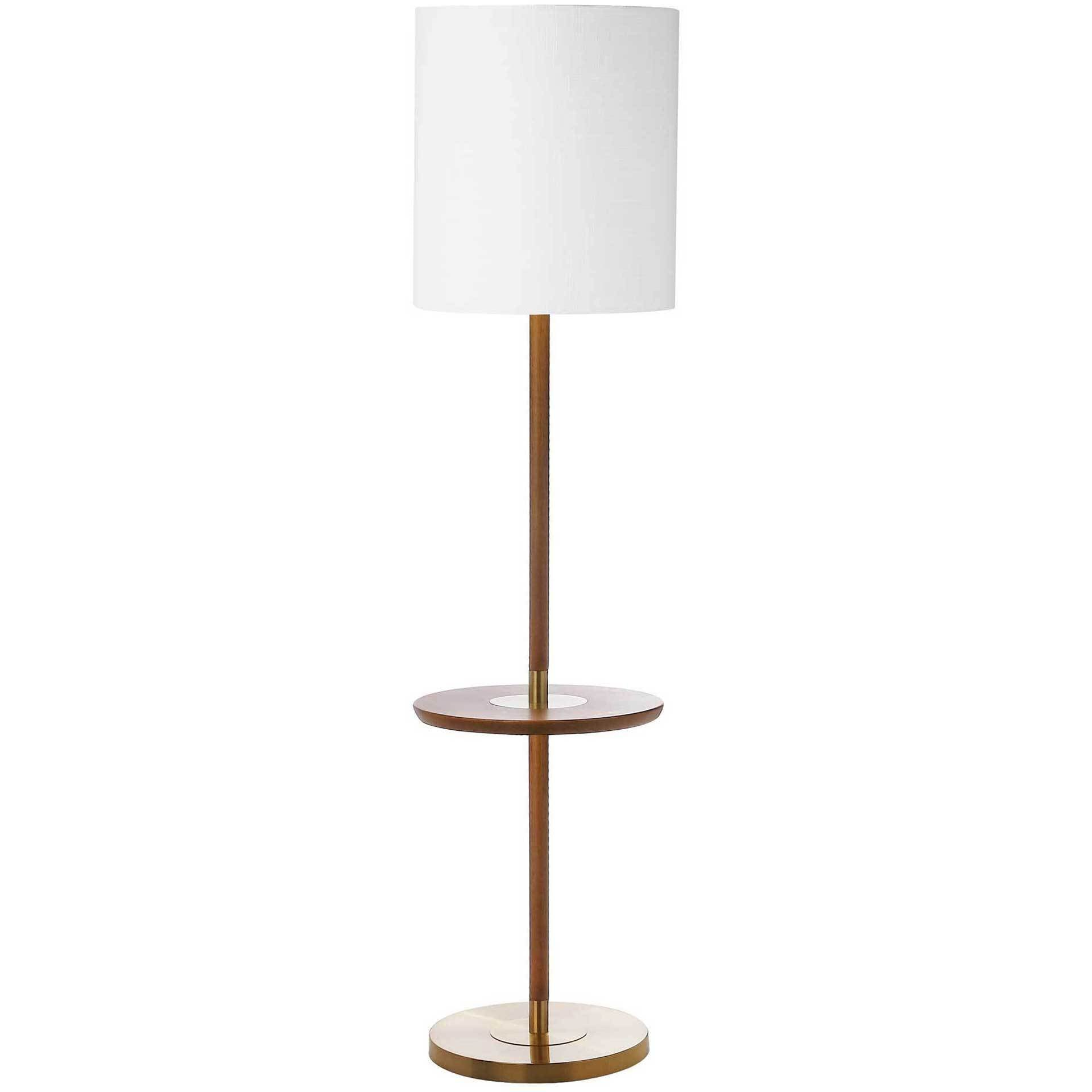 Jairo End Table Floor Lamp Brown