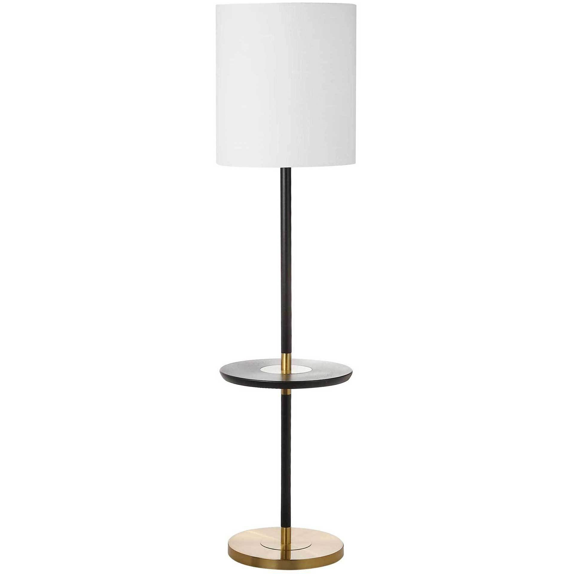 Jairo End Table Floor Lamp Black