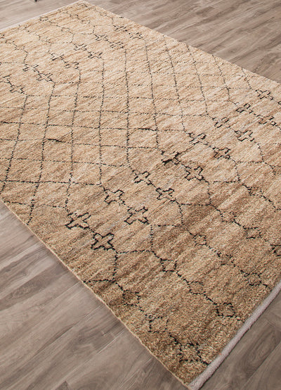 Luxor Lapins Natural/Black Area Rug