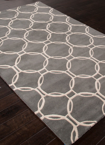 Lounge Abeet Charcoal/Cream Area Rug