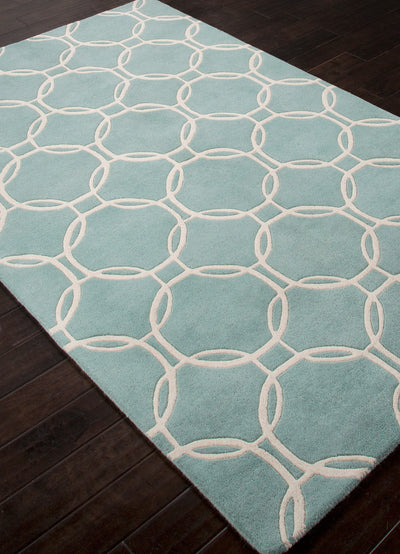 Lounge Abeet Sea Blue/Beige Area Rug
