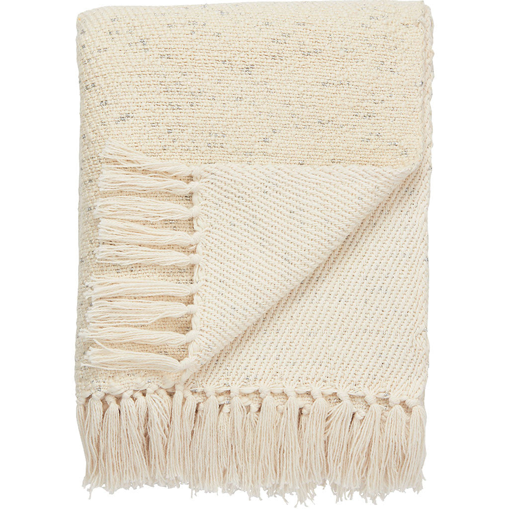 Lovell Antique White/Silver Throw