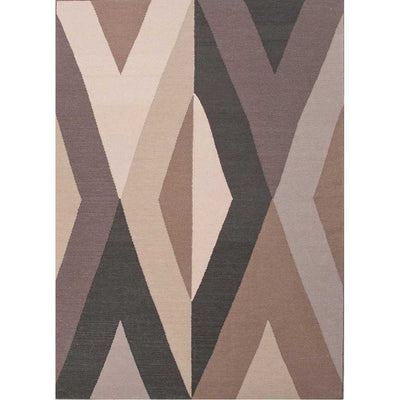En Casa Bridges Dark Ivory/Black Ink Area Rug