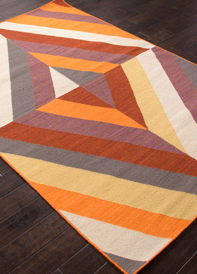 En Casa Tunnel Red Oxide/Light Gold Area Rug