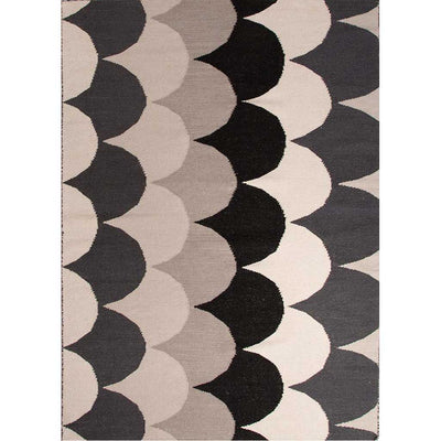 En Casa Ripple Ebony/White Area Rug