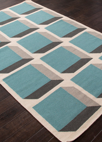 En Casa Cubes Antique White/Capri Area Rug