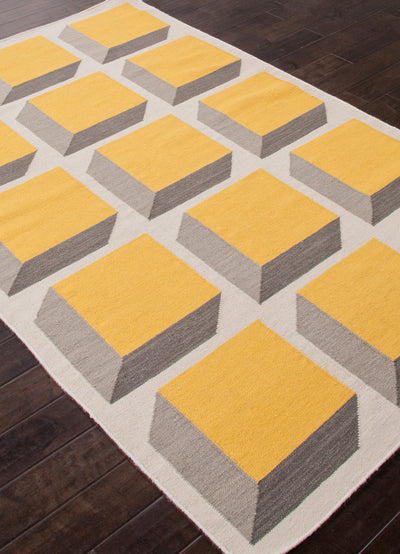 En Casa Cubes White/Yellow Area Rug