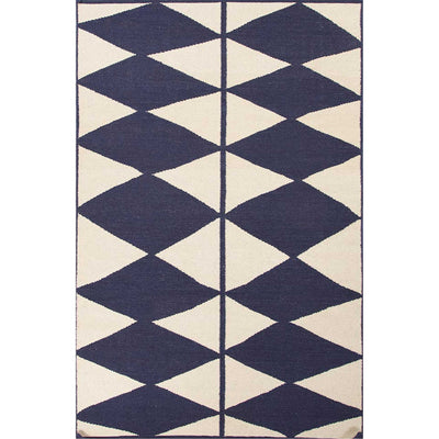 En Casa Harlequin Antique White/Deep Navy Area Rug