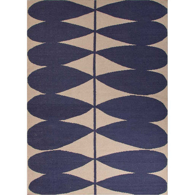 En Casa Petals Antique White/Deep Navy Area Rug