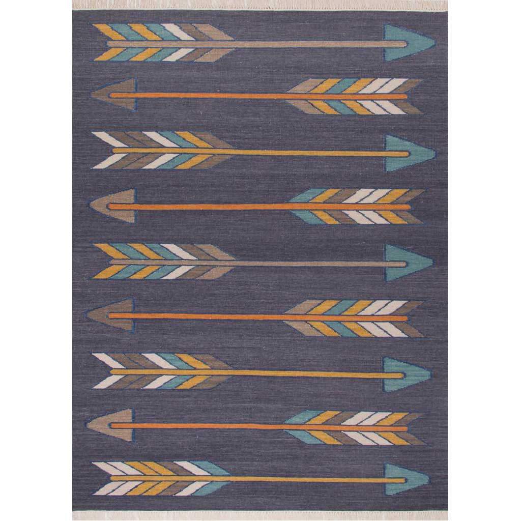En Casa Sawyer Dark Gray/Yellow Area Rug