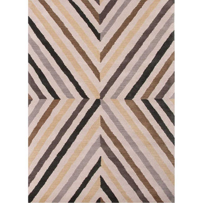 En Casa Cornered Dark Ivory/Black Ink Area Rug