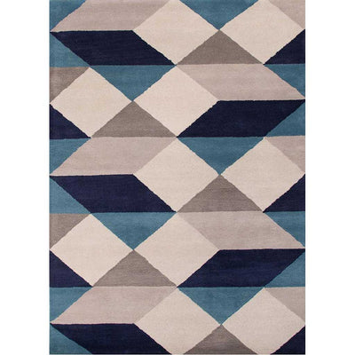 En Casa Ojo White/Deep Navy Area Rug