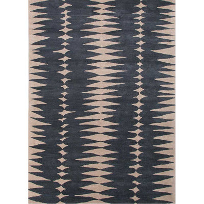 En Casa Tear Drops Deep Blue/Dark Ivory Area Rug