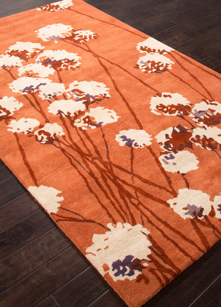 En Casa Cotton Blossom Red Orange Area Rug