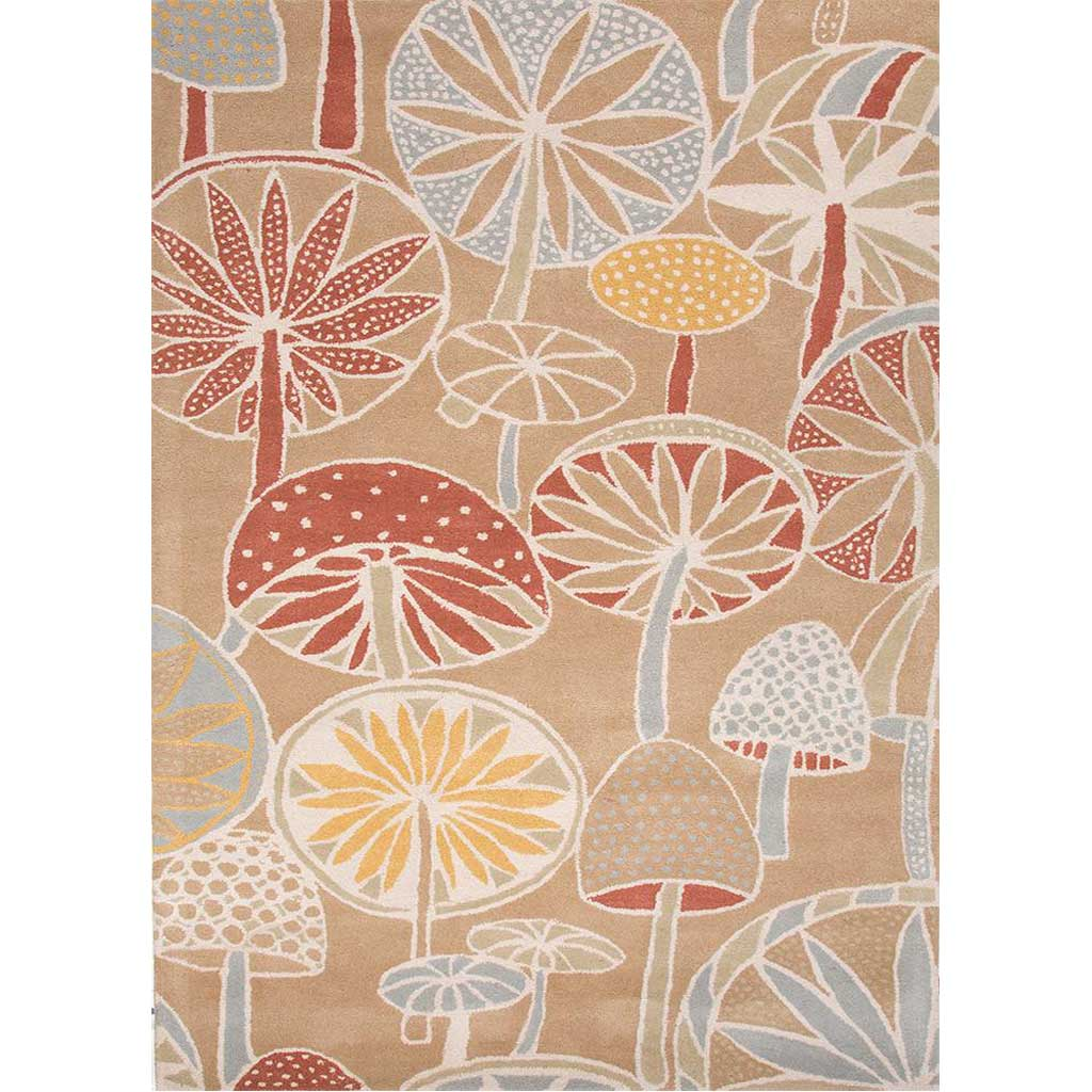En Casa Mushrooms Sand Area Rug