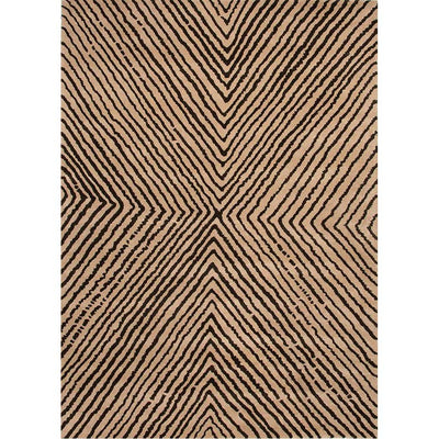En Casa Concentric Sand/Deep Charcoal Area Rug