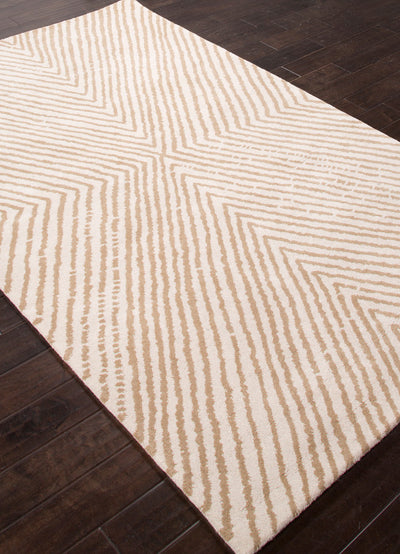 En Casa Concentric White/Dark Sand Area Rug
