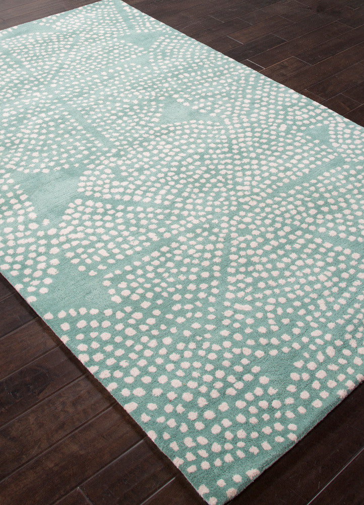 En Casa Stipple Flower Aruba Blue/Antique White Area Rug