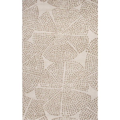 En Casa Stipple Flower White/Silver Gray Area Rug